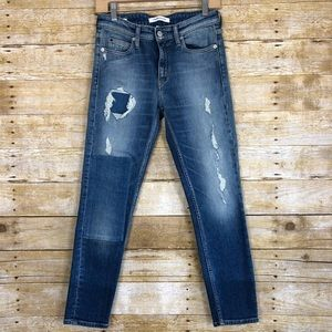 Calvin Klein Stretch Mid Rise Skinny Jeans